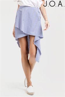 J.O.A. Wrap Front Hi-lo Skirt