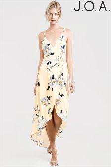 J.O.A Floral Print Hi-Lo Dress