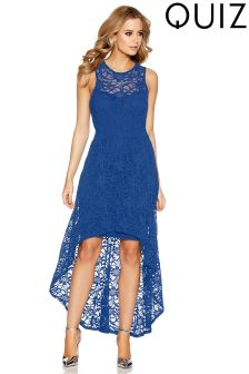 Quiz Lace Dip Hem Skater Dress