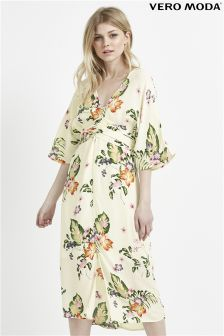 Vero Moda Bloom Print Midi Dress