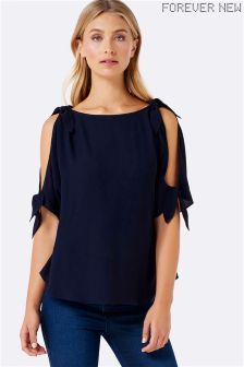 Forever New Tie Shoulder Top