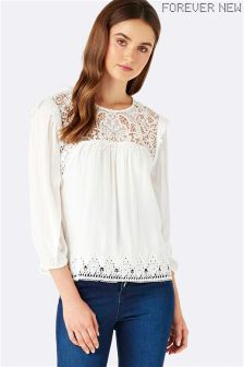 Forever New Lace Trim Blouse