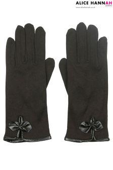 Alice Hannah Bow Trim Gloves