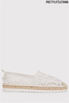 PrettyLittleThing Morgana Lace Espadrilles