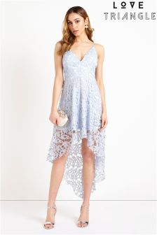 Love Triangle High Low Hem Lace Midi Dress