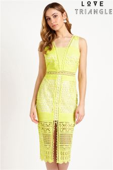 Love Triangle Fitted Midi Dress