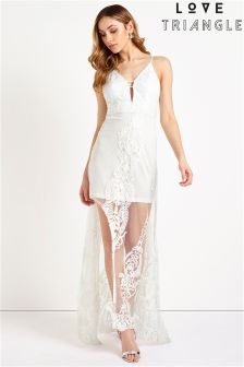 Love Triangle Lace Maxi Dress