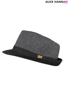 AH London Herringbone Trilby Hat