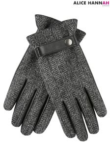 AH London Tweed Leather Gloves