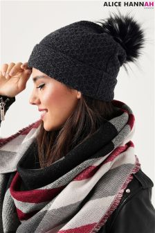 Alice Hannah Knitted Beanie Hat