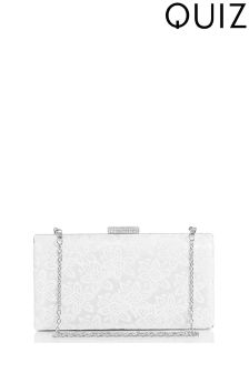 Quiz Sequin Lace Box Bag