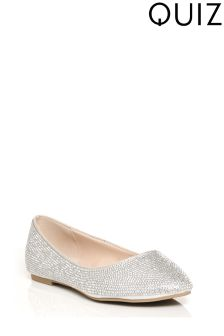 Quiz Diamanté Covered Pointed Pumps