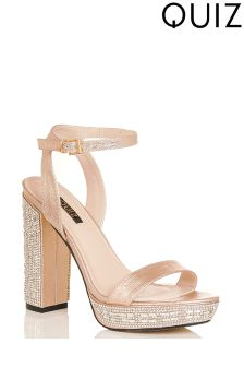 Quiz Platform Block Heeled Sandals