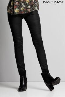 Naf Naf Coated Skinny Jeans