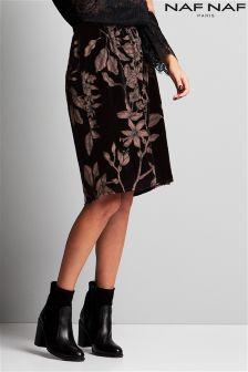 Naf Naf Floral Print Midi Skirt