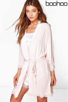 Boohoo Brides Squad Slogan Bridal Robe