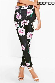 Boohoo Floral Stretch Skinny Trousers