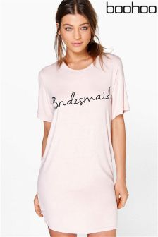 Boohoo Bridesmaid Slogan Bridal Nightie