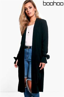 Boohoo Plus Tie Sleeve Duster Jacket