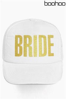 Boohoo Bride Slogan Baseball Cap