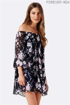 Forever New Floral Off Shoulder Dress