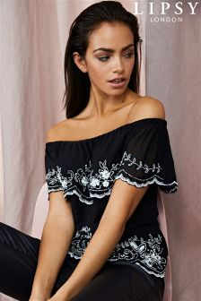 Lipsy Beaded Bardot Top