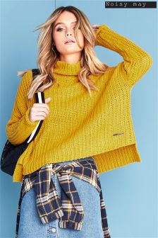 Noisy May High Neck Knitted Jumper