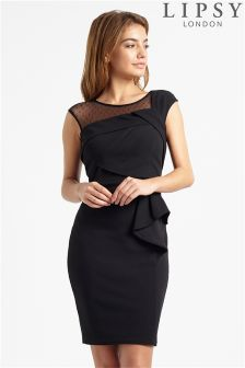 Lipsy Origami Pleated Bodycon Dress