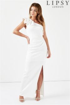 Lipsy One Shoulder Ruffle Detail Maxi Dress