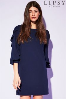 Lipsy Ruffle Sleeve Shift Dress