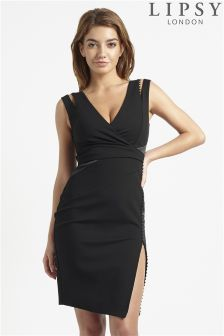 Lipsy Love Michelle Keegan Button Detail Strap Dress