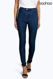 Boohoo High Waisted Classic Stretch Skinny Jeans