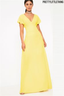 PrettyLittleThing Pleat Detail Maxi Dress