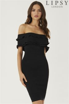 Lipsy Bardot Ruffle Dress