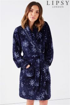 Lipsy All Over Snowflake Print Robe