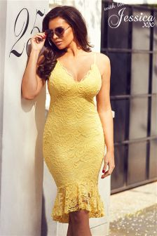 Jessica Wright Lace Strappy Bodycon Dress