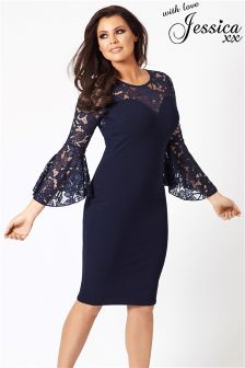 Jessica Wright Lace Sleeve Bodycon Dress