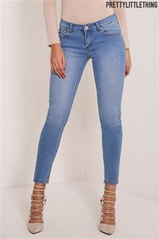 PrettyLittleThing Light Wash Slim Leg Jeans