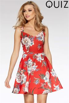 Quiz Printed Skater Dress