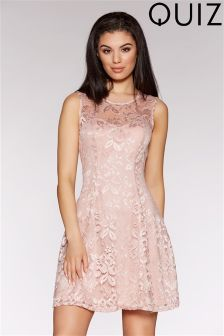 Quiz Lace Flippy Style Skater Dress