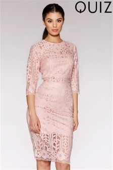 Quiz Lace Cutout Detail Midi Dress