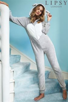 Lipsy Bunny Zip Through Onesie