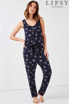 Lipsy All Over Snowflake Print Jumpsuit