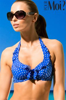 Pour Moi Hot Spots Halter Underwired Top
