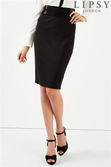 Lipsy Eyelet Lace Up Pencil Skirt