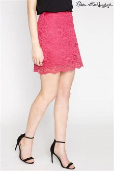 Miss Selfridge Lace Hem Skirt