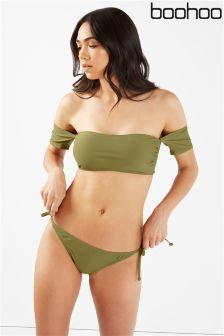 Boohoo Bandeau Bikini Set