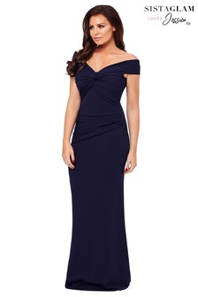 Jessica Wright Knot Rouched Maxi Dress