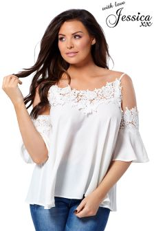 Jessica Wright Cold Shoulder Blouse