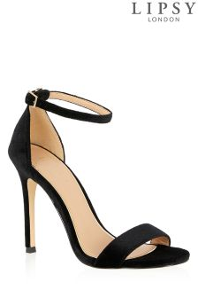 Lipsy Velvet Barely There Sandals